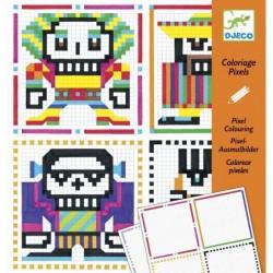 Pixel színező - Skull boys